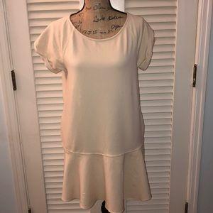 Free People cream oversized dress